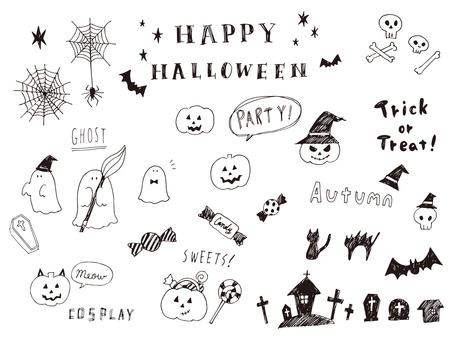 Halloween line painting