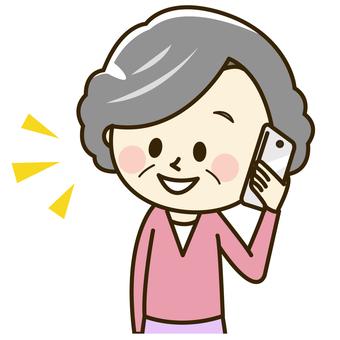 Senior women with smartphones 2-2 Phone