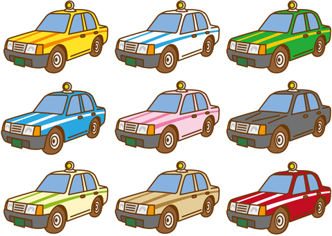Taxi for each color