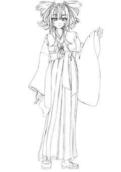 Maki Kashima, Maiden 2 (line drawing)