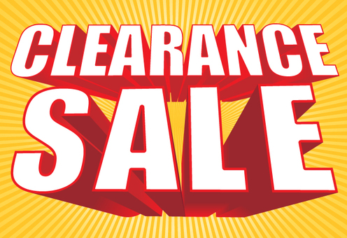 CLEARANCE SALE (with background)