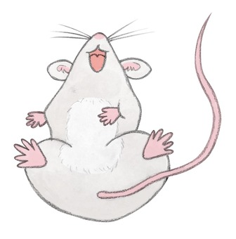 Laughing mouse handwriting