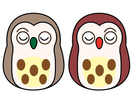 Owl Daruma