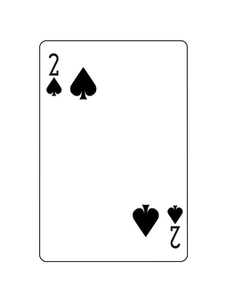 2 of playing cards spades