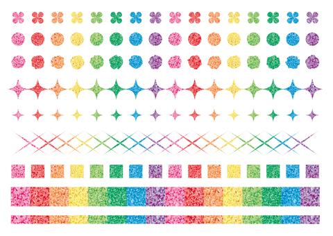 Colorful line set (lame)