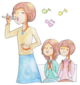 가라오케 (여성 3 명)