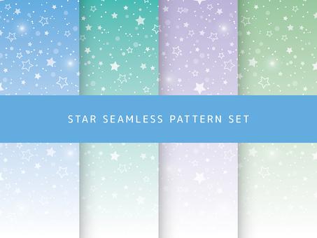 小さい星のシームレスパターンセット