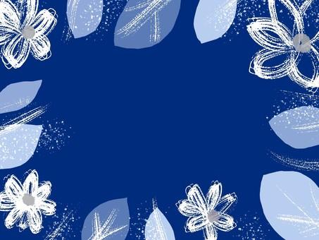Winter color flower frame