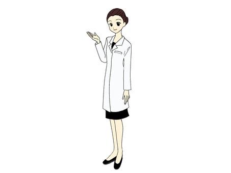 Woman_white coat_guide_whole body③
