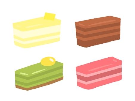 사각형 케이크 선없이
