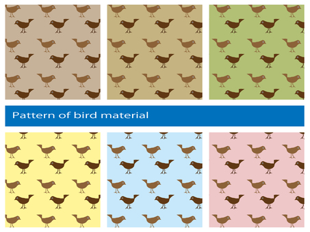 Cute bird pattern material set