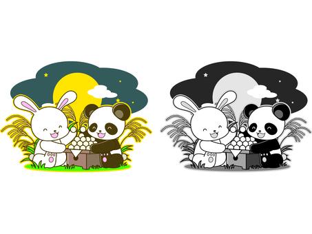 Panda illustration _ Tsukimi _ 02