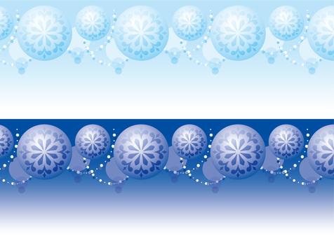 Glitter ornament blue