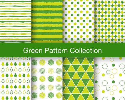Seamless pattern set: green