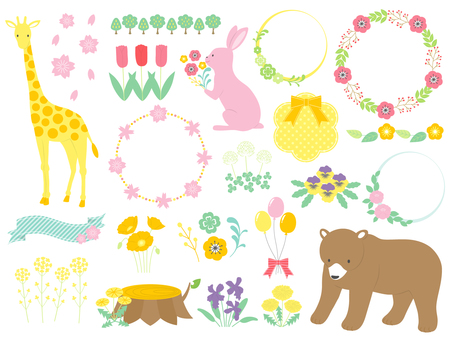 Animals and flowers