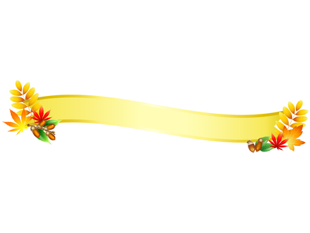 ai decoration for autumn, ribbon yellow 1 point