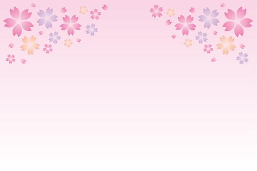 Spring cherry background picture ☆ Decorative pattern