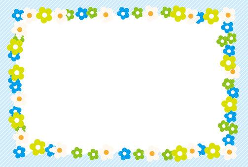 Flower frame _ Blue series 2