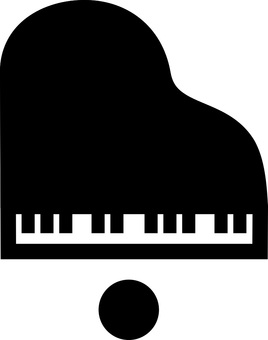 Illustration viewed from directly above the piano (black)