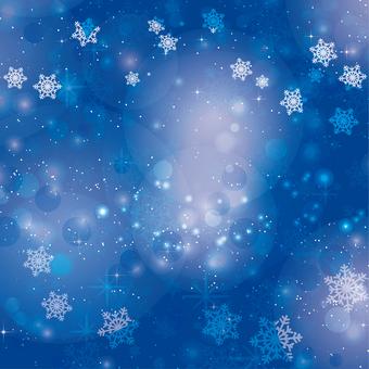 Snow Background Dark Blue