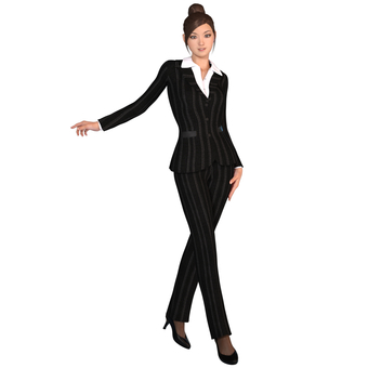 Pants suit woman 04