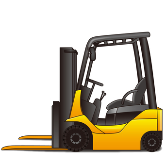There is a forklift truck drawing