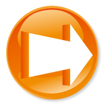 3D Arrow Icon - Orange