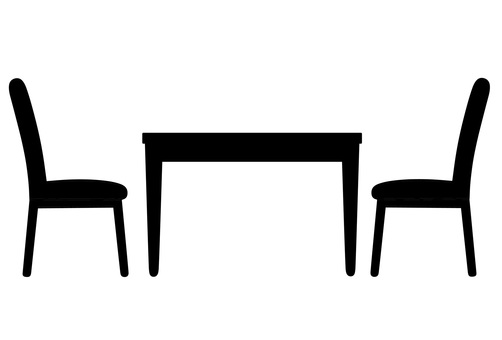 Desk and chair icons