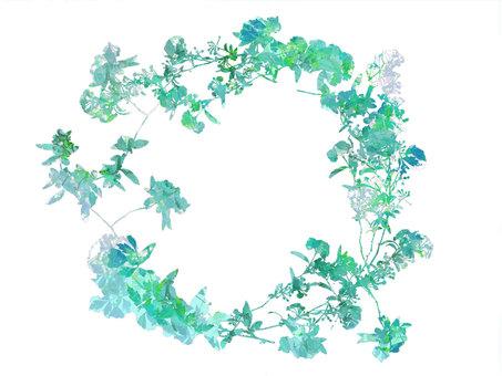 Blue family leaf frame