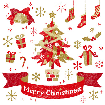 クリスマス 1 レッド&ゴールド