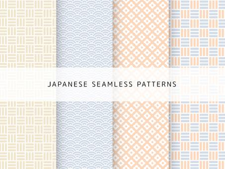 A cute Japanese pattern set