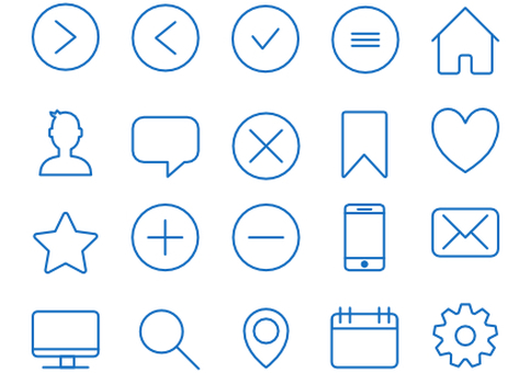 20 simple icons