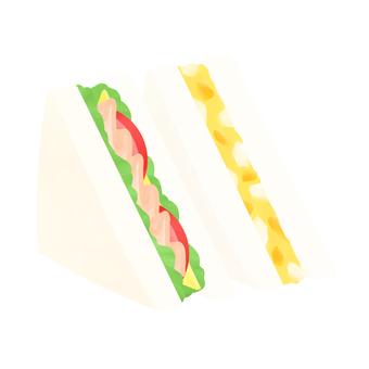 サンドイッチ(ハム・たまご)
