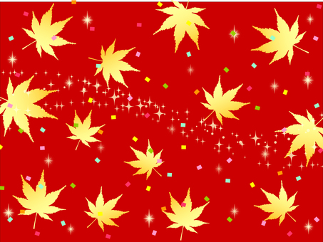 Autumn red background maple