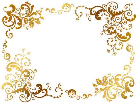Botanical Frame Gold