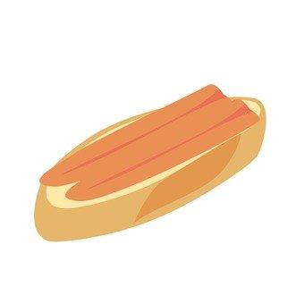 생햄과 프랑스 빵