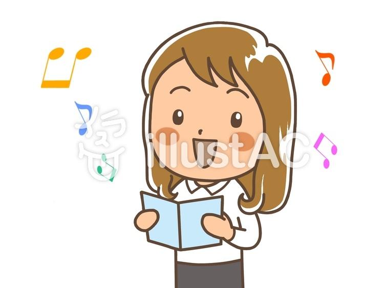 歌っている女性イラスト No 881229無料イラストならイラストac