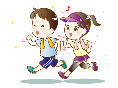 (Modified) Couple jogging