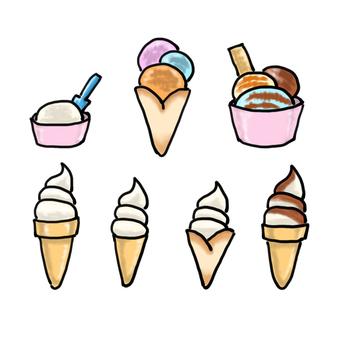 アイスクリーム いろいろ