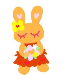 Bouquet Rabbit (Yellow)