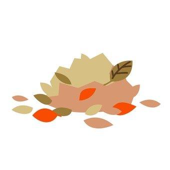 Garbage separation - fallen leaves