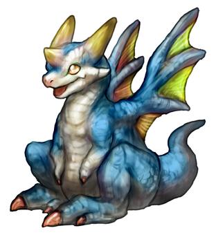 Dragon Puppy Blue