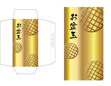 "Pochi bag development drawing ""Obon Festival 4"" Gold"