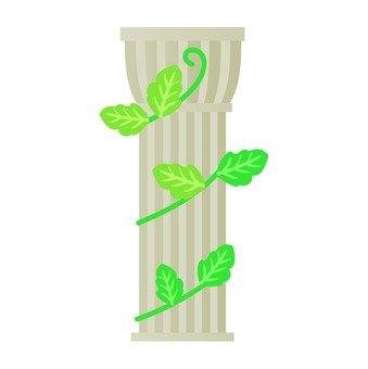 기둥과 식물