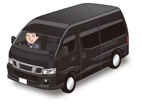 Shuttle bus illustration