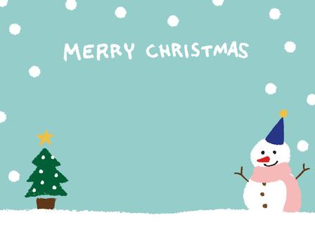 Snowman Crayon Hand-painted Christmas