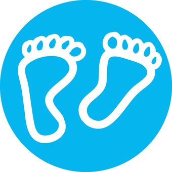 Rough icon foot