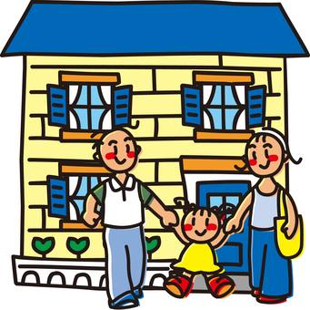 Parent and child and home, new construction