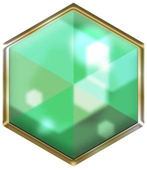 Hexa jewel blue-green