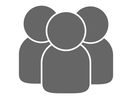 People icon (3 people) Gray